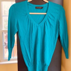 XS The Limited Teal 3/4 sleeve v-neck sweater